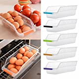 #10: Ontime Fridge Space Saver Food Storage Organiser Box Rack Set of 4pcs, Assorted Colour