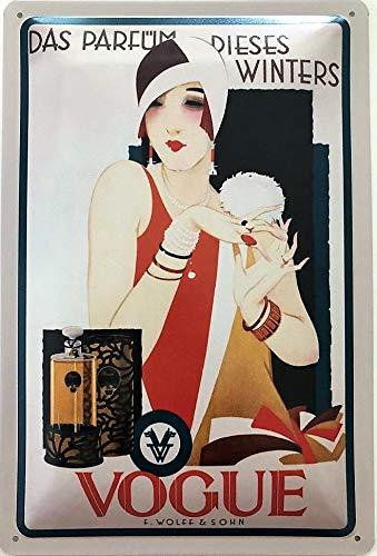 Deko7 Blechschild 30 x 20 cm Das Parfüm Dieses Winters Vogue
