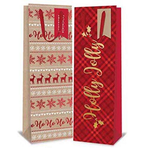 Tallon, Paper Things - 12Sacs Cadeaux pour Bouteille de Noël de Luxe-Vin/Spirit Sacs