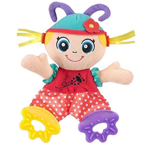 Happy cherry - Juguetes Sonajero Mordedor Peluche de Animales para bebés niños niñas recien nacidos - muñeca