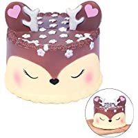 Squishy Squeeze Toy, Cervato Juguetes Squishy + Grandes Squishy Slow Rising Kawaii Mini Blandos Juguetes