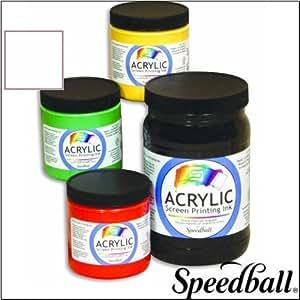 Speedball Acrylic Screen Printing Ink white 240ml