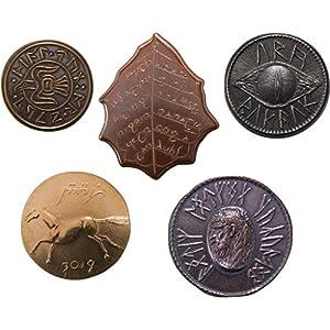 The Shire Post SPMI-ME-0201-M5, El Señor de los Anillos Set 5 Monedas Tierra Media, Multicolor