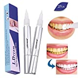 Sbiancamento dei denti,Sbiancante per Denti,Gel Sbiancante denti,artaro Rimozione, Penna Sbiancante per Denti più forti e Sorriso più luminoso 2 PCS