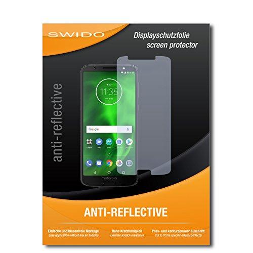SWIDO Schutzfolie für Motorola Moto G6 [2 Stück] Anti-Reflex MATT Entspiegelnd, Hoher Härtegrad, Schutz vor Kratzer/Displayschutz, Displayschutzfolie, Panzerglas-Folie (Moto Displayschutzfolie E Matt)
