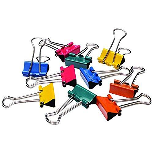 wicemoon Mini bunt Papier, Metall, 19mm Falte Rückseite Binder Clips Bürobedarf (100Stück)