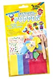 folia 2361 - Moosgummi Fingerpuppen Kinder, 5 verschiedene Figuren mit Zubehör, bunt