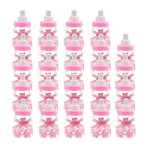 Weiche Silikonflasche Baby Süßigkeiten Flasche 24 Stück Baby Dusche Süßigkeiten Flasche Geschenkbox Mädchen Baby Geburtstagsfeiern Dekoration Babyflasche Pralinenschachtel Obst Feeder Baby (Freien Im Baby-dusche-dekorationen)