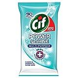 Cif Power et Brillance Original Lingettes antibactériennes, FamilyMall Coffret - Lot de 4