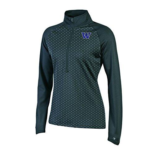 Champion NCAA Damen Klassische Workout Half Zip Jacke, Damen, NCAA Women's Classic Workout Half Zip, schwarz, Small Knight Zip