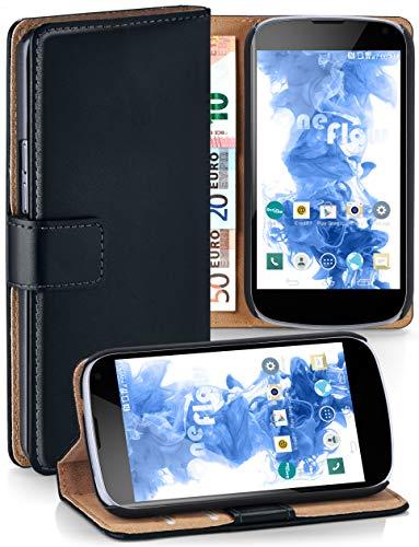 moex® cover a libretto compatibile con lg google nexus 4 | fessura carta + soldi, supporto, nero