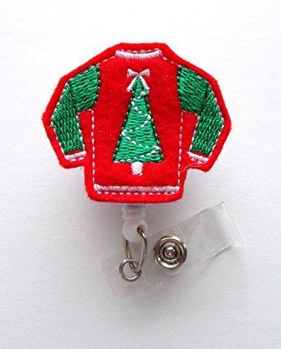 Ugly Weihnachten Pullover Rot-Retractable ID Filz Badge Holder-Weihnachten Badge Reel-Krankenschwestern Badge Holder-Medical Badge-Teacher Badge-Filz Badge Alligator Clip Alligator-sweatshirt