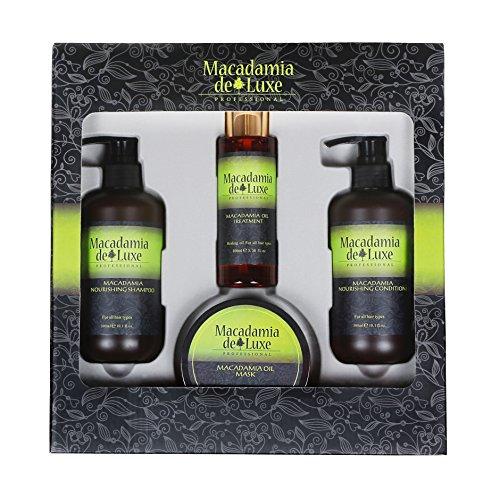 Macadamia DeLuxe Macadamiaöl Geschenk-Set, Premium Haar Pflege Set