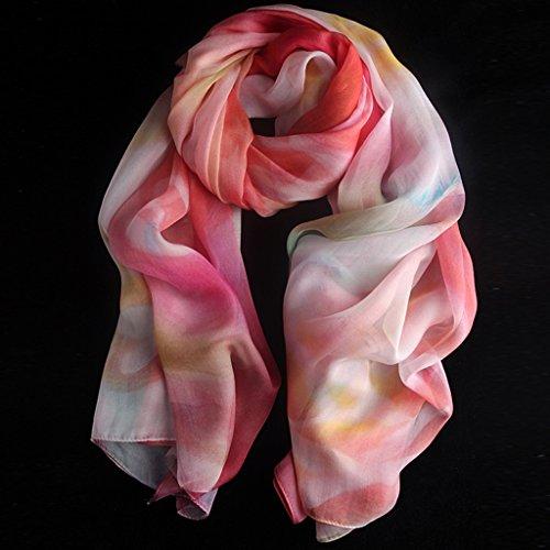serviette de plage Ladies Print Soie Soie Longue chemise Éclave solaire Echarpe sauvage châle ( Couleur : #6 ) #15
