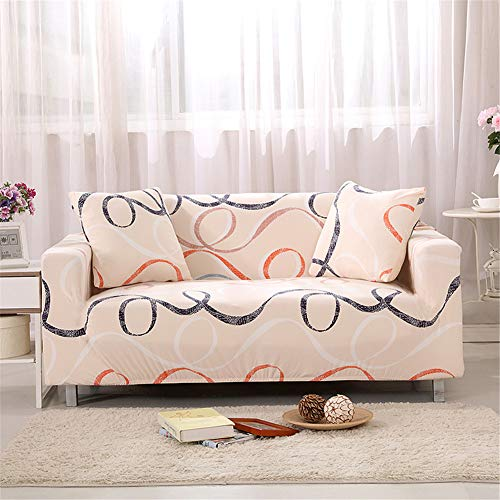 Odot copridivano elastico, copridivano salotto protettore imbottito sofa antiscivolo ideale per poltrone mobili copridivano (4 posti: 235-300cm,colorato)