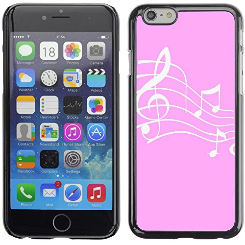 Graphic4You Music Note Pattern Design Hard Case Cover for Apple iPhone 6 Plus (Turquoise) Rosa