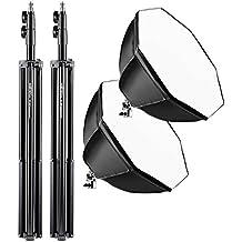 Walimex Pro Daylight 250 Studio-Dauerlicht (Octagon Softbox, Lampenstativ, 2er Set)