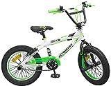 16 Zoll BMX Freestyle Bike Actimover Fahrrad weiss/neon-grün mit 360° Rotor