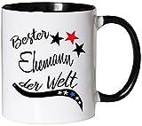 Mister Merchandise Kaffeebecher Tasse Bester Ehemann der Welt Mann Partner Husband Ehe Heirat Hochzeit Teetasse Becher Weiß-Schwarz