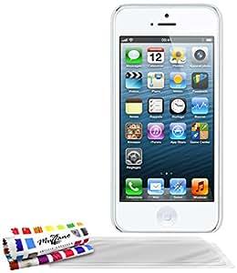 "Coque Rigide Ultra-Slim APPLE IPHONE 5S / IPHONE SE [Le Pika Premium] [Blanc] de MUZZANO + 3 Films de protection écran ""UltraClear"" + STYLET et CHIFFON MUZZANO® OFFERTS - La Protection Antichoc ULTIME, ELEGANTE ET DURABLE pour votre APPLE IPHONE 5S / IPHONE SE"
