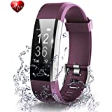 OMNiX™ ID115 Plus HR Smart Wristband Heart Rate Monitor with 0.96 Inch OLED Display KIONIX Sensor, Pedometer, Distance, Calorie, Sleeping Monitor, Multiple Sports, Alarm Clock, Remote Camera, Call & Sedentary Alert, BT 4.0, IP67 Waterproof, Supports Android 4.4/iOS 7.1 above, Removable Straps, Direct USB Charging.