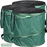 GardenMate® 3x Pop-up Gartensack 85l - Selbstaufstellend aus robustem Polyester Oxford 600D Gewebe