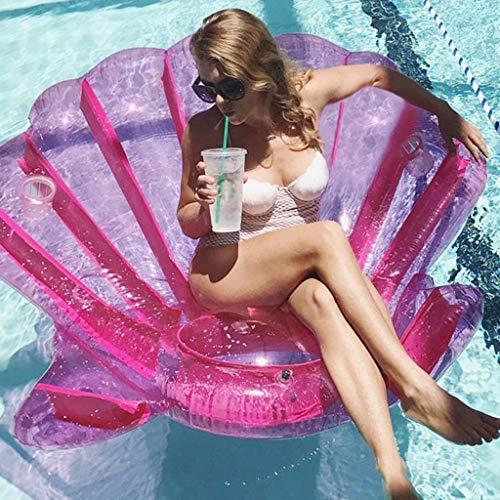 Aufblasbare Shell Pool Float Raft, PVC Liege for Sommer Beach Party Blow Up Wasser Spielzeug for Kinder Und Erwachsene 208X213 cm (Blow-up-pool-lounger)