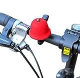 Campanello da bicicletta, Sunnymi mini invisibile Road mountain Cycling campanello per bici manubrio in alluminio anello suono allarme corno allarme per la sicurezza, Red