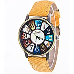 Watch, Tonwalk Harajuku Graffiti Pattern Leather Band Analog Quartz Vogue Wrist Watches