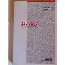 MICROSOFT MS-DOS GUIDE DE L'UTILISATEUR MANUEL DE REFERENCE VERSION 5.0