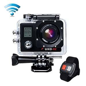 Campark® ACT76 Videocamera 4K Wifi Ultra HD Dual Screen Sportiva Impermeabile per Slow Motion 170°Grandangolare Telecomando