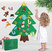 WOSTOO Árbol de Navidad de Fieltro, 3ft Bricolaje árbol de Navidad de Fieltro con 32 Adornos Desmontables año niños de Pared de Puerta Decoración Colgante