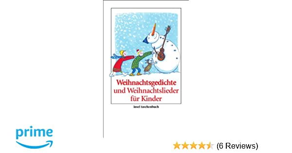 Weihnachtsgedichte Für Kinder Grundschule.Weihnachtsgedichte Und Weihnachtslieder Für Kinder Insel Taschenbuch