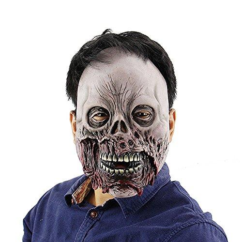 JTWJ Halloween Spukhaus Horror Clown Maske Schamane Room Escape Live-Auftritte beängstigend Kleid ()