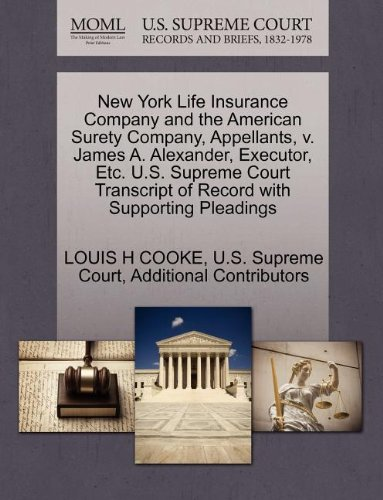 new-york-life-insurance-company-and-the-american-surety-company-appellants-v-james-a-alexander-execu