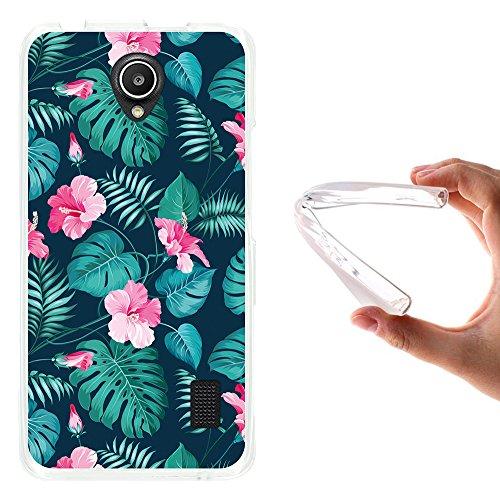 WoowCase Huawei Ascend Y635 Hülle, Handyhülle Silikon für [ Huawei Ascend Y635 ] Tropische Blumen 2 Handytasche Handy Cover Case Schutzhülle Flexible TPU - Transparent