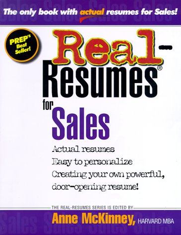 Real-Resumes for Sales (Real-resume series)