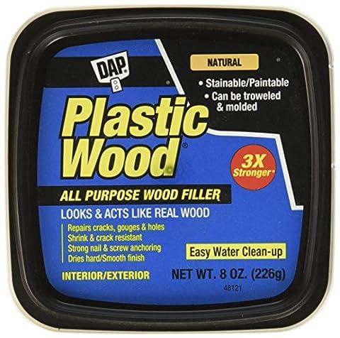 Plastic Wood Latex All Purpose Wood Filler 8oz-