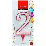 Cereria de Giorgio 58170_ 62vela de cumpleaños gigante con purpurina Número 2