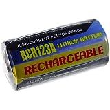 batterie compatible pour Sigma type CR-123A 500mAh, Li-Fe, 3,0V, 1,5Wh, bleu