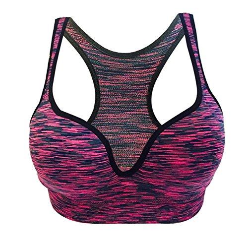 Cliont aux femmes Fort impact Soutien Confort Sport Étendue Yoga Soutien-gorge Aptitude Workout Bra Violet