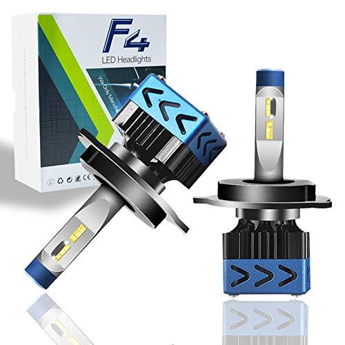 Lampadine H4 LED 5000LM(30W X 2), Kit Lampada Sostituzione per Alogena Lampade e Xenon Luci, Fari Abbaglianti e Anabbaglianti per Auto, 12V-24V, 6500K DC 9-32 V Adatto per tutti i modelli (H4)