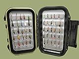 50Ninfa & Zumbador, moscas de la pesca de la trucha en caja en un impermeable caja para moscas, Mixto