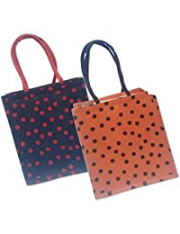 Maheshwari Reusable Shopper Bag, Pack Of 2 Jute Bags