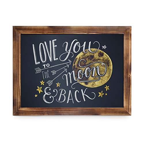 HBCY Creations Rustikale Torched Holz Magnetic Wand Tafel, Eingerahmt Tafel - Dekorative Magnettafel Groß für Küchen-Dekor, Hochzeiten, Restaurant-Menü und vieles mehr! 18