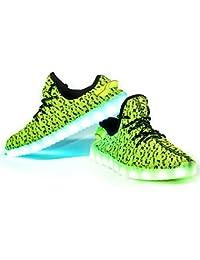 Envio 24 Horas Usay like Zapatillas LED Con 7 Colores Luces Carga USB Verde yezi Hombre Mujer Unisex Talla 36 hasta 46 Envio Desde España