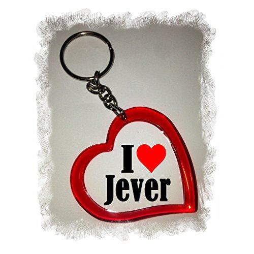 """Preisvergleich Produktbild Exklusive Geschenkidee: Herzschlüsselanhänger """"I Love Jever"""", eine tolle Geschenkidee die von Herzen kommt - Rucksackanhänger- Liebesanhänger- Weihnachts Geschenktipp"""