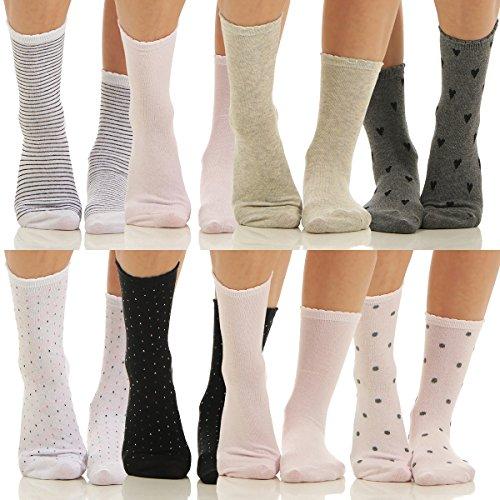Calcetines cortos - para mujer lunares 39/42