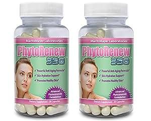 2x PhytoRenew 350 Phytoceramides - Rajeunir la peau - Phyto Renew - Formule Anti Age 2x(30 Capsules Végétales) 2-Pack