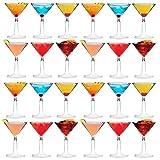 Rink Drink Bicchieri da Martini/Cocktail, in Plastica, da 170 ml, per Uso Esterno - Confezione da 24